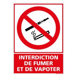 PANNEAU INTERDICTION DE FUMER ET DE VAPOTER (N0183)