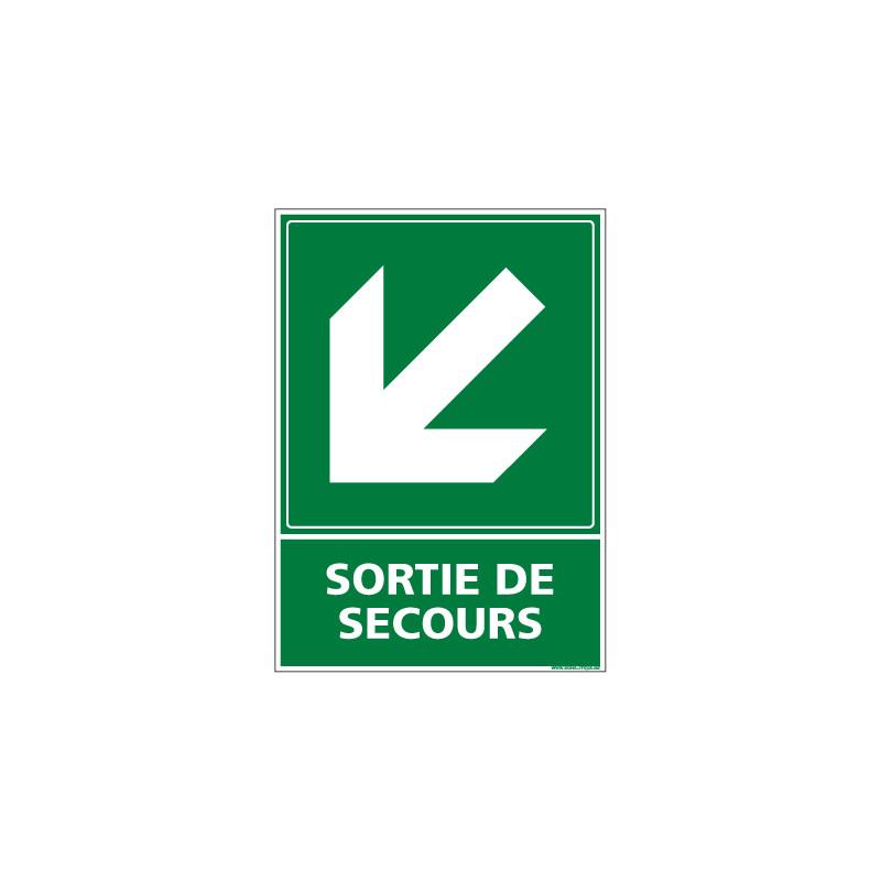 PANNEAU EVACUATION/SORTIE DE SECOURS (BAS GAUCHE) (B0243)