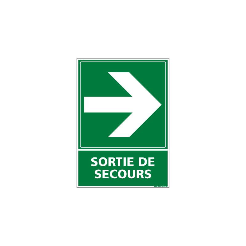 PANNEAU EVACUATION/SORTIE DE SECOURS (DROITE) (B0244)