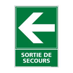 PANNEAU EVACUATION/SORTIE DE SECOURS (GAUCHE) (B0245)