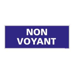 PANNEAU SIGNALISATION HANDICAPES, MOBILITE REDUITE NON VOYANT