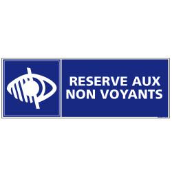 Panneau de signalisation RESERVE AUX NON VOYANTS (G0295)
