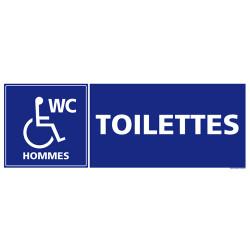 Panneau de signalisation TOILETTES HANDICAPES HOMMES (G0332)
