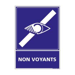 PANNEAU SIGNALISATION HANDICAPES, MOBILITE REDUITE NON VOYANTS