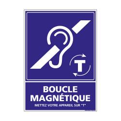 Panneau de signalisation Boucle Magnétique (G1043)