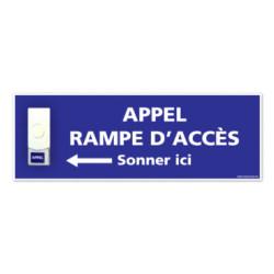 Panneau de signalisation APPEL RAMPE D'ACCES + Sonnette intégrée (G1102)