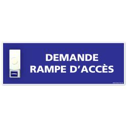 Panneau de signalisation APPEL RAMPE D'ACCES + Sonnette intégrée (G1103)