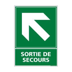 PANNEAU EVACUATION/SORTIE DE SECOURS (HAUT GAUCHE) (B0248)