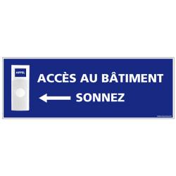 Panneau de signalisation APPEL RAMPE D'ACCES + Sonnette intégrée (G1107)