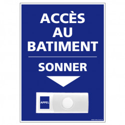 Panneau de signalisation APPEL RAMPE D'ACCES + Sonnette intégrée (G1108)