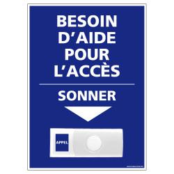 Panneau de signalisation APPEL RAMPE D'ACCES + Sonnette intégrée (G1110)