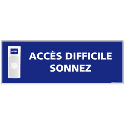 Panneau de signalisation APPEL RAMPE D'ACCES + Sonnette intégrée (G1111)