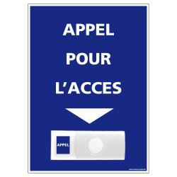 Panneau de signalisation APPEL RAMPE D'ACCES + Sonnette intégrée (G1114)