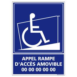 Panneau de Signalisation APPEL RAMPE D'ACCES AMOVIBLE (G1116)