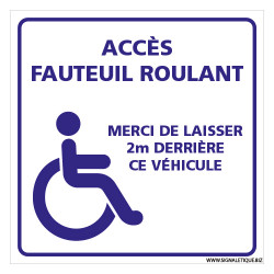 PANNEAU ACCES FAUTEUIL ROULANT (G1488)