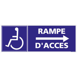PANNEAU RAMPE D'ACCES FLECHE A DROITE (I0182)