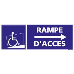 PANNEAU RAMPE D'ACCES FLECHE A DROITE (I0183)
