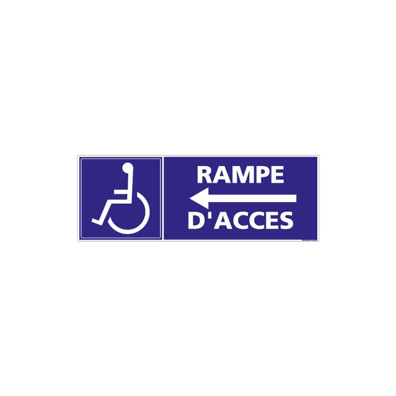 PANNEAU RAMPE D'ACCES FLECHE A GAUCHE (I0185)