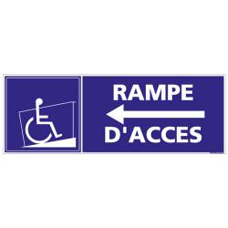 Panneau de signalisation RAMPE D'ACCES FLECHE A GAUCHE (L0825)
