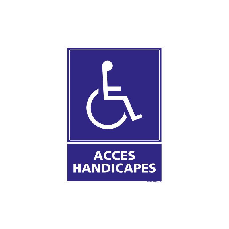 PANNEAU ACCES HANDICAPES (L0838)