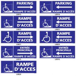 Panneau RAMPE D'ACCES HANDICAPE