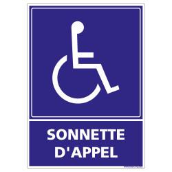 Panneau Sonnette d'appel Rampe d'accès (L0950)