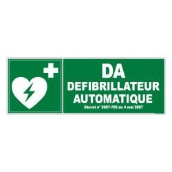 PANNEAU DEFIBRILLATEUR AUTOMATIQUE (B0263)