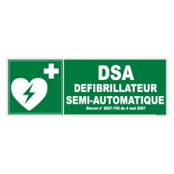 PANNEAU DEFIBRILLATEUR SEMI-AUTOMATIQUE (B0264)