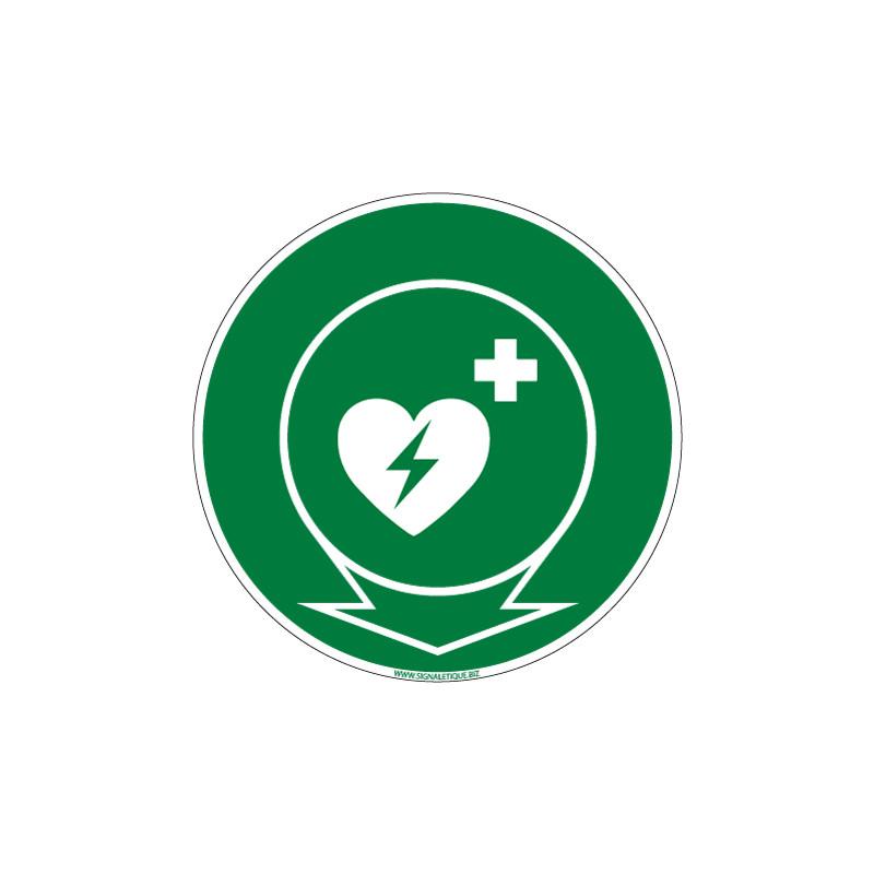 PANNEAU EMPLACEMENT DEFIBRILLATEUR CARDIAQUE (B0266)