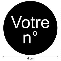 PLAQUE DE NUMERO GRAVEE POUR BOŒTE AUX LETTRES PERSONNALISABLE (BAL0010)