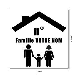 PLAQUE GRAVEE POUR BOŒTE AUX LETTRES FAMILY PERSONNALISABLE (BAL0014)