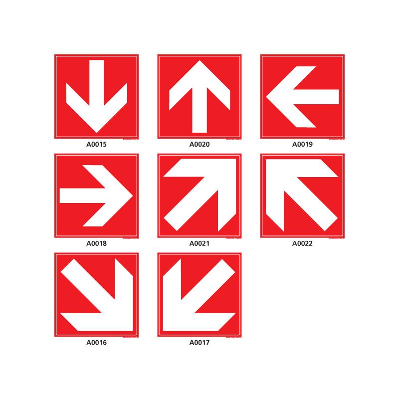 Panneau d'incendie directionnel