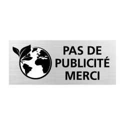 Plaque pour boîte lettres Pas de publicité merci (WUV0008)