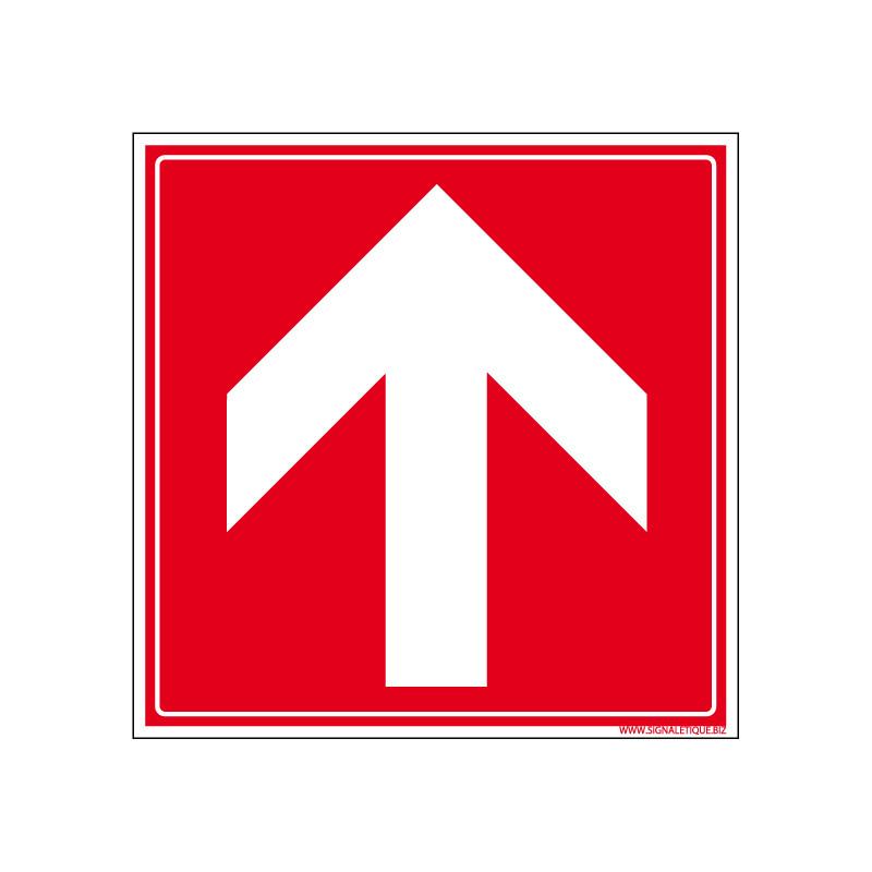Panneau de Signalisation Incendie Fleche (A0020)