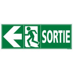 Panneau SORTIE ISSUE DE SECOURS (GAUCHE) (B0293G)