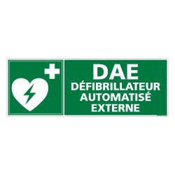 PANNEAU DAE DEFIBRILLATEUR AUTOMATISE EXTERNE (B0323)