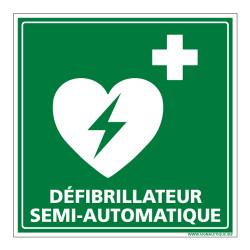 PANNEAU DEFIBRILLATEUR SEMI AUTOMATIQUE (B0328)