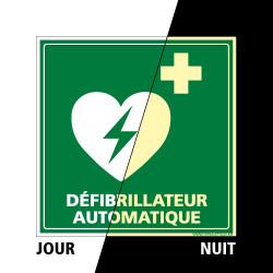 PANNEAU DEFIBRILLATEUR AUTOMATIQUE PHOTOLUMINESCENT (B0329-PHO)
