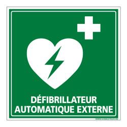 PANNEAU DEFIBRILLATEUR AUTOMATIQUE EXTERNE (B0330)