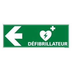 PANNEAU DEFIBRILLATEUR FLECHE VERS LA GAUCHE (B0331)