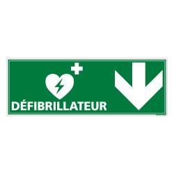 PANNEAU DEFIBRILLATEUR FLECHE VERS LE BAS (B0332B)