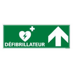 PANNEAU DEFIBRILLATEUR FLECHE VERS LE HAUT (B0332H)