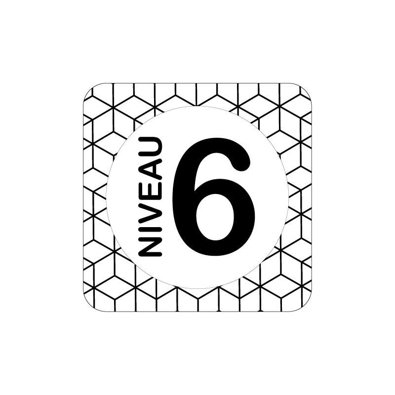 PLAQUE DE PORTE DESIGN SPHERE NIVEAU 6 - 125X125 mm
