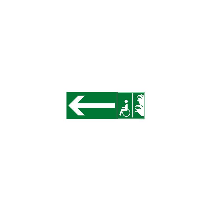 Panneau ESPACE D'ATTENTE SECURISE DIRECTION(B0349)