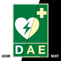 PANNEAU DEFIBRILLATEUR DAE PHOTOLUMINESCENT (B0352-PHO)