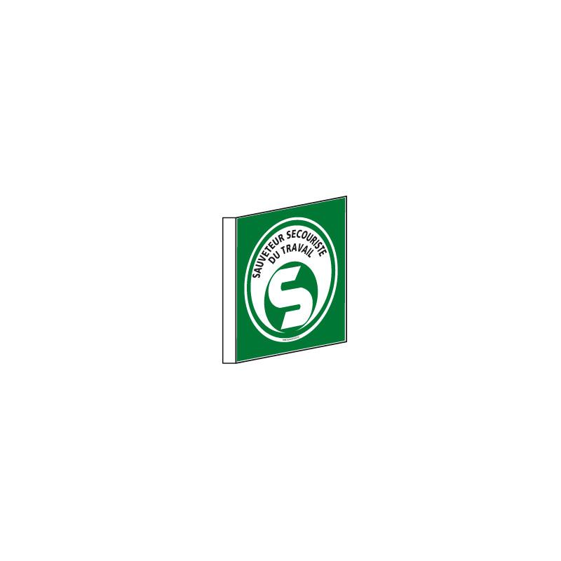 Signalisation Drapeau SAUVETEUR SECOURISTE DU TRAVAIL (SST) (B0360)