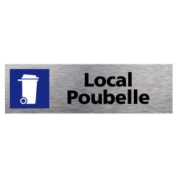 PLAQUE D'INFORMATION LOCAL POUBELLE (Q0120)