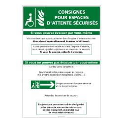 CONSIGNES POUR ESPACES D'ATTENTE SECURISES (B0367)
