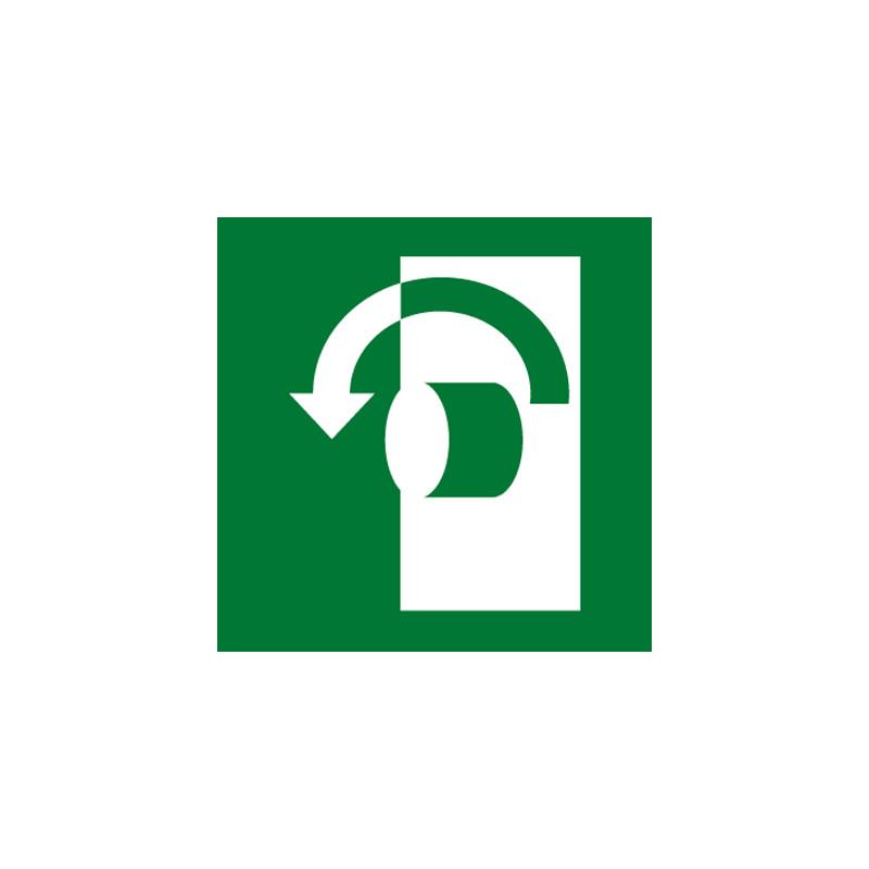PANNEAU PICTOGRAMME EVACUATION/SECOURS BOUTON(B0374)