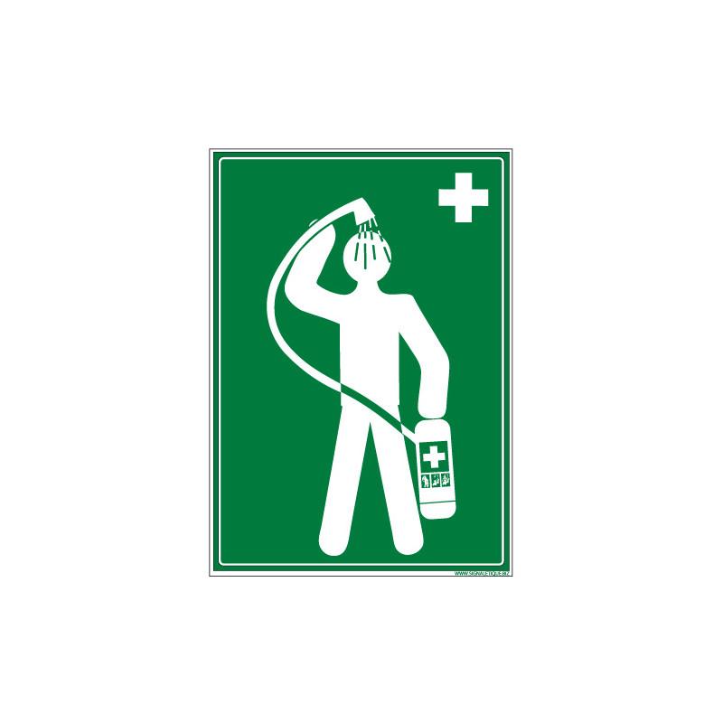 Signalisation DOUCHE DE SECURITE (B0388)